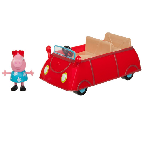 VEHICHULOS PEPPA PIG LITTLE CELEBRATION CAMPER O LITTLE RED CAR CON MUÑECO- VARIOS MODELOS
